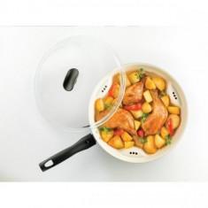 Tigaie Dry Cooker Trilogy cu interior ceramica alba, 26cm,