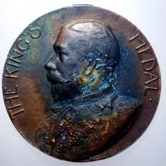 7.969 MEDALIE MAREA BRITANIE GEORGE V KINGS MEDAL LONDON COUNTY 32mm, Europa