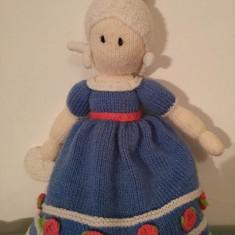 DD - Papusa dubla tricotata, Cenusareasa (fata trista si fata vesela), 30cm