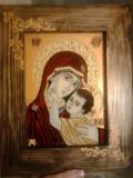 """Icoana """"Maica Domnului cu pruncul Iisus"""""""