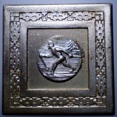 5.134 ROMANIA PLACHETA SPORT SCHI CUPA TINERETULUI SARITURI 1965 45/45mm - Medalii Romania