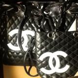 Set genti Chanel - Geanta Dama, Culoare: Negru, Marime: Medie