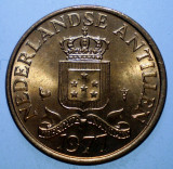 7.729 ANTILELE OLANDEZE 1 CENT 1977 XF/AUNC