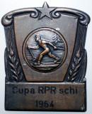 5.153 ROMANIA PLACHETA SPORT SCHI CUPA RPR 1964 50/40mm