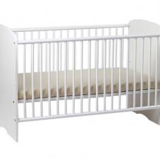 Patut Copii Lemn Fara Sertar MYKIDS SERENA Alb 6806 - Patut lemn pentru bebelusi MyKids, 120x60cm