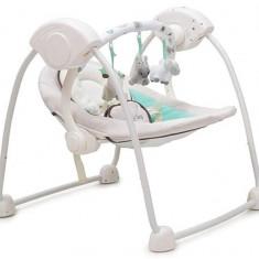 Leagan Electric Bebelusi CANGAROO Baby Swing Verde - Balansoar interior