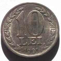 G5. ROMANIA 10 lei 1991 ** - Moneda Romania