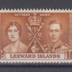 Anglia / Colonii, 1937 - LEEWARD ISLANDS, nestampilate, MNH