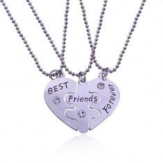 Set 3 Lantisoare cu Pandantive Best Friends BFF Cele mai bune prietene