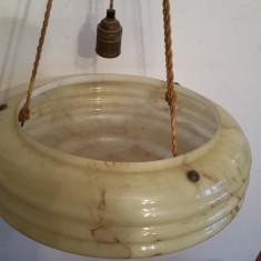 LAMPA ELECTRICA DE TAVAN ( PLAFONIERA STICLA ) - FRANTA -  ART-DECO - 1920