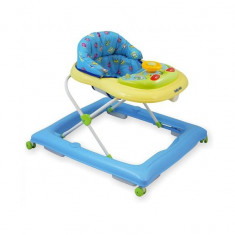 Premergator copii cu roti din silicon Baby Mix BG-1601 Blue Cream