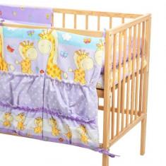 Buzunar Patut MyKids Happy Giraffe Mov - Sistem depozitare jucarii