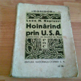 HOINARIND PRIN U.S.A. -LEON M. NEGRUZZI - Carte de calatorie, An: 1931