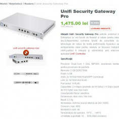 Lichidare stoc Unifi Security Gateway Pro - Router Ubiquiti, Porturi LAN: 4