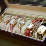 CADOUL EI - Cutie cu compartimente + 6 ceasuri Poze reale si transport GRATUIT - Ceas dama, Elegant, Quartz, Analog
