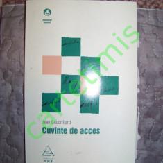 Jean Baudrillard - Cuvinte de acces - Filosofie, Art