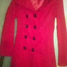 Palton dama Made in Italia rosu, Marime: S