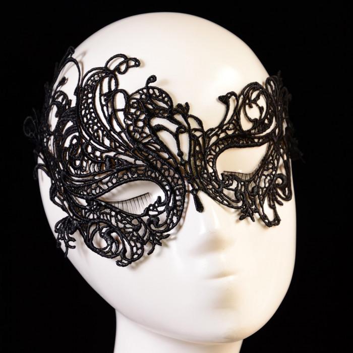 Masca Carnaval/Adult Neagra  Dantela Halloween
