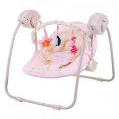 Leagan Electric Bebelusi CANGAROO Baby Swing Roz - Balansoar interior