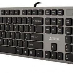 Tastatura A4Tech KV-300H, slim, USB, gri, Ergonomica, Cu fir