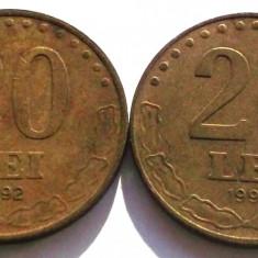 G5. ROMANIA Lot 20 lei 1992 si 1993 ** - Moneda Romania
