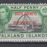 INSULELE FALKLAND - SOUTH ORKNEYS, 1944, nestampilat, MNH (GB1)