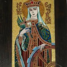 "icoane pe sticla ""Sf Ecaterina"""