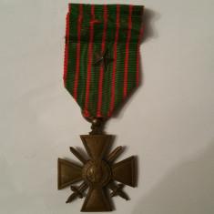 Decoratie militara franceza - Crucea primului razboi mondial