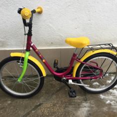 15 Bicicleta copii second-hand, Germania. R18, 12 inch, 5-7 ani, Numar viteze: 1