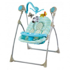 Leagan electric Baby Mix SW102016 Blue - Balansoar interior