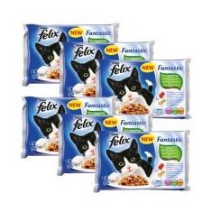 FELIX - Hrană în pungi de aluminiu, carne și legume 6 x 400 g - Hrana pisici