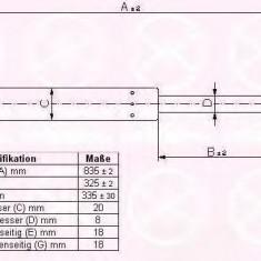 Amortizor portbagaj CITROËN XM 2.1 TD 12V - KLOKKERHOLM 05307100