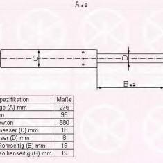 Amortizor portbagaj AUDI 4000 1.8 - KLOKKERHOLM 00167100