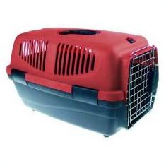 Cușcă de transport câini - 46 x 30.5 x 28.3cm - bordo - Geanta si cusca transport animal