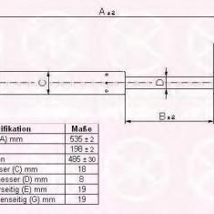 Amortizor portbagaj FORD MONDEO Mk III 1.8 16V - KLOKKERHOLM 25557100