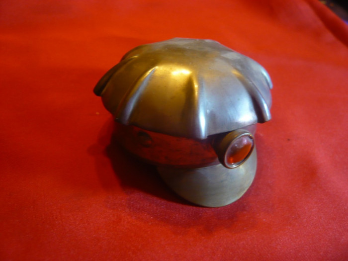 Miniatura Casca Miner , diametrul interior = 5,5 cm , metal