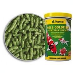 Sticks vegetal TROPICAL Koi goldfish 21L - Hrana peste si reptila