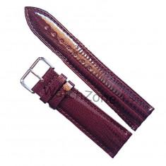 Curea de ceas Piele 12mm Maro imprimeu Curea ceas 12mm - Curea ceas piele