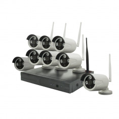 Resigilat : Kit supraveghere video PNI HOUSE WIFI808 - NVR si 8 camere wireless 96 - Camera CCTV