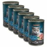 Leonardo, conservă pentru pisici - Pește 6 x 400 g - Hrana pisici