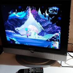 TV LCD + DVD PLAYER 20 INCH ALIMENTARE 12V AUTO DMTECH LT20XTVCH - Televizor LCD, 51 cm, HD Ready, Intrare RF: 1, Scart: 1, VGA: 1