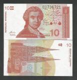 CROATIA  10   DINARI  DINARA  1991  UNC  [1]  P-18a  ,  necirculata
