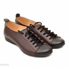 Pantofi dama din piele naturala cu talpa joasa cod P67 - Produs romanesc piele