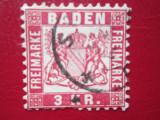 TIMBRE GERMANIA BADEN=1868, Stampilat