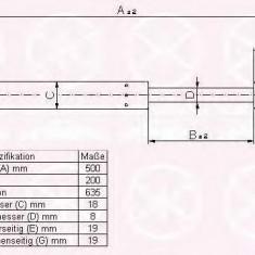 Amortizor portbagaj AUDI A6 Avant 1.9 TDI - KLOKKERHOLM 00147120