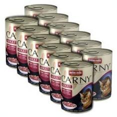 Hrană CARNY ADULT cu inimă de bovin - 12 x 400 g - Hrana pisici