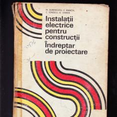 INSTALATII ELECTRICE PENTRU CONSTRUCTII INDREPTAR DE PROIECTARE, Alta editura