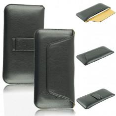 Toc piele prindere curea pantaloni Iphone 6 6S - Husa Telefon, Negru