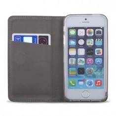 HUSA LG K8 SMART MAGNET GOLD - Husa Telefon Philips, Samsung Galaxy A7, Negru, Piele Ecologica, Cu clapeta