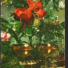 CPI (B7917) FELICITARE DE ANUL NOU CARTE POSTALA - PAHARE CU SAMPANIE - Carte Postala Muntenia dupa 1918, Necirculata, Fotografie